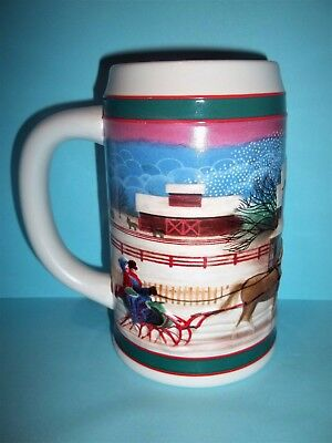 """Miller high life Holiday beer stein """"To the best Holiday traditions""""6""""Tall"""