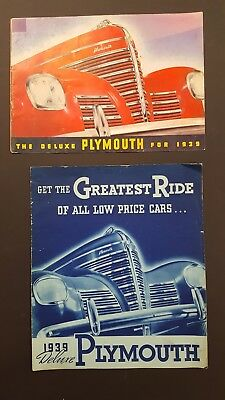 1939 Plymouth Sales Brochure and pamphlet