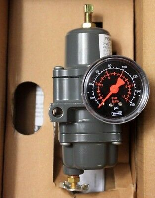 "Fisher 67CFR-239 Pressure Regulator 0-125 psi / 1/4"" NPT / 0-160 Gauge New"