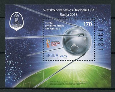 Serbia 2018 MNH FIFA World Cup Football Russia 1v M/S Soccer Sports Stamps