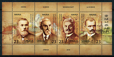 Serbia 2018 MNH Scientists Science 4v M/S in Booklet Stamps