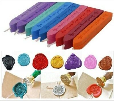 Colorful Wax Sealing Sticks Melting Seals for Candle Wedding Letters Envelope