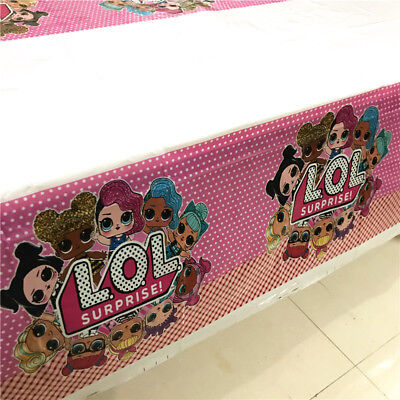 LOL Surprise Tablecloth Birthday Party Girls Favor Kids Tableware Tablecover