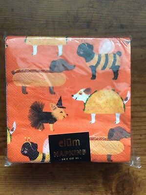 Dachshunds Doxie Dog Halloween Paper napkins