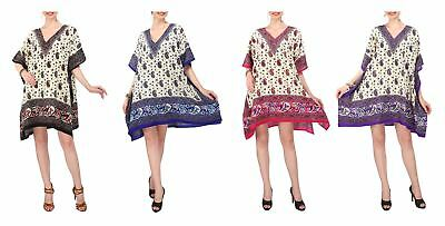 Miss Lavish London Women Kaftan Tunic Kimono Dress Loungewear Beach Nightwear