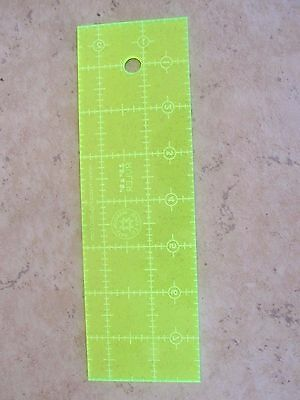 "Crafters Dream Transparent Quilting /& Patchwork Ruler Template 2/"" x 12.5/"" CD2125"