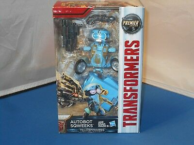Hasbro Transformers The Last Knight Premier Edition Autobot Sqweeks Toy NMISB!