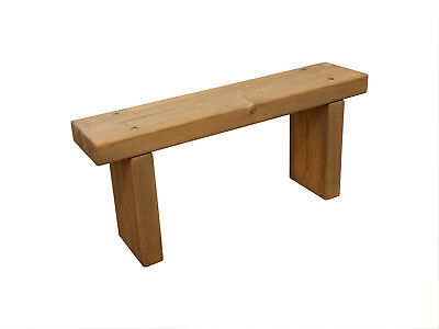 Garden Bench | Stool Kitchen Hallway bedroom 9X3 Rustic Treated Wood solid Pine
