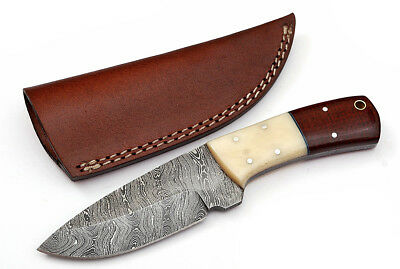 Custom Twist Damascus Steel FULL TANG Drop Point Hunting/Skinner Knife Z3