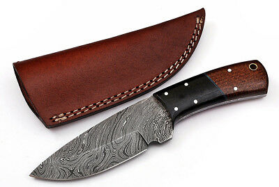 Custom Twist Damascus Steel FULL TANG Drop Point Hunting/Skinner Knife Z3A