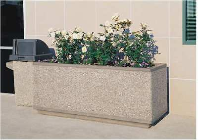 Planter,Rectangle,66in.Lx18in.Wx18in.H WAUSAU TILE TF4169W22