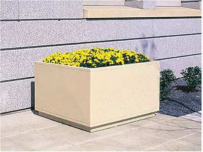Planter,Square,72in.Lx72in.W,36in.H WAUSAU TILE TF4209W22
