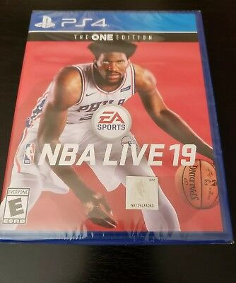 NBA Live 19 : The ONE Edition (PlayStation 4, ps4) Brand new factory sealed