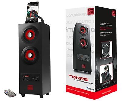 SUMVISION PSYC TORRE PORTABLE 2.1 Bluetooth Speaker Powerful Audio Remote LED