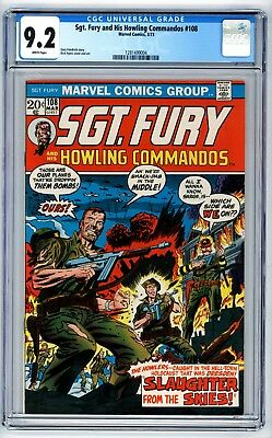Sgt. Fury and His Howling Commandos #108 CGC 9.2 Gary Friedrich Story