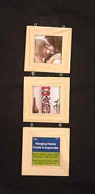 Plaid Wood Surfaces - Frames -Triptych Square Hanging Create Your Own 3 frames