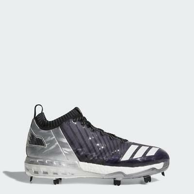 4bd0aee56a4b New Adidas Boost Icon 3 Faded Metal Baseball Cleats Size 13.5 Black White  Silver