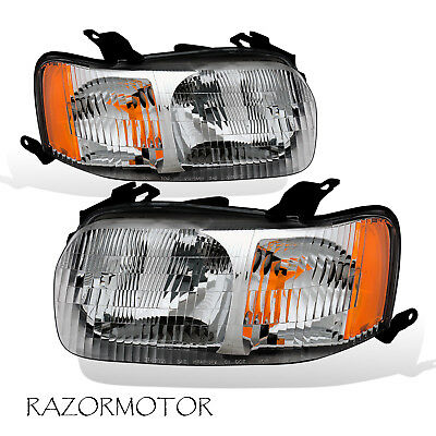2001-2004 Replacement Headlight Lamp Assembly Set Pair For Ford Escape W/ Bulb