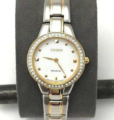 Citizen Eco-Drive Women's EX1364-59A Silhouette Analog Display Two Tone Watch