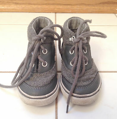 Toddler Boys Crazy 8 Gray High Top Casual Hipster Preppy Cute Shoes Sneakers 7