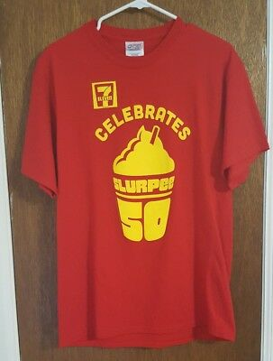 7 Eleven Slurpee Celebrate 50 Years 7-11 50th Anniversary T Shirt Size Large