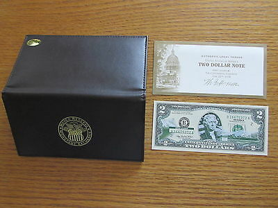 Alaska $2 Bill Colorized Federal Reserve Note Green Seal Paper Money with Holder