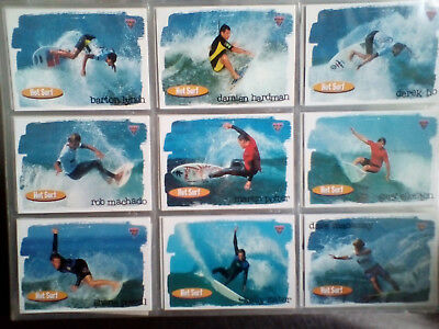 1995 Futera Hot Surf Trading Card Complete Set of 110 Cards