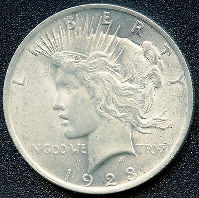 1923 United States Silver ' Peace ' Dollar (26.73 grams .900 Silver)
