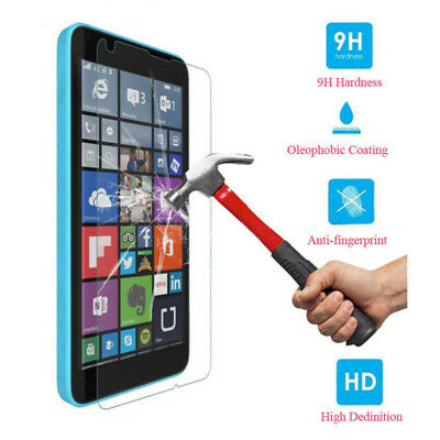2PCS 9H Tempered Glass Screen Protector Film For Nokia Lumia 640 650 950 XL