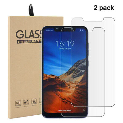2X Screen Protector For Xiaomi Pocophone F1 Tempered Glass Protective Film Glass