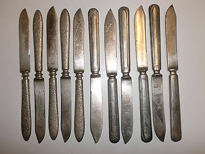 Vintage 1947 Rogers Bros 11 Assorted Silver Plate Fruit Cheese Knives