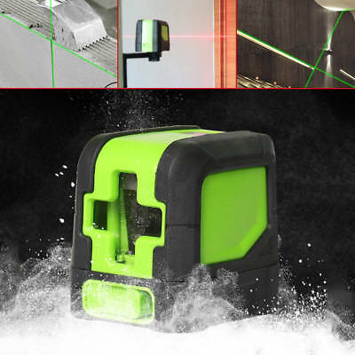 2 Line 360° Rotary Red/Green Laser Self-Leveling Vertical Horizontal Level CA