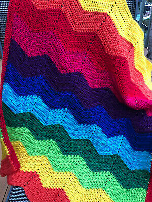 "New Handmade Crochet  Baby Blanket unisex, pram, car or Home.""Manly Warringah"""
