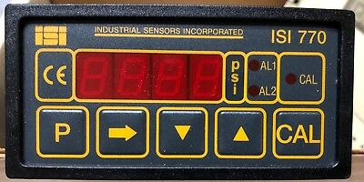 *NEW*  ISI 770 by Industrial Sensors Inc. 1/8 DIN Melt Pressure Indicator