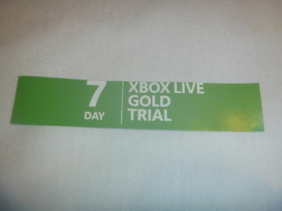 Microsoft Xbox 360 & One Live 7 Day Subscription Card Gold Trial 1 Week