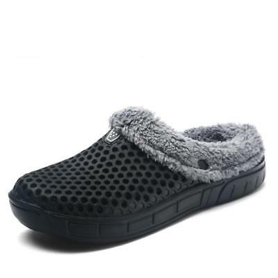 Unisex Fur-Lined Rubber Croc Clog Slippers