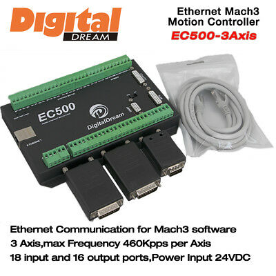CNC 3 Axis Motion Controller 460Kpps for Mach3 with Ethernet Communication EC500