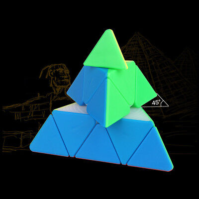YuXin Brain Teaser Puzzle Pyraminx Stickerless Pyramid Speed Cube Enthusiast Toy