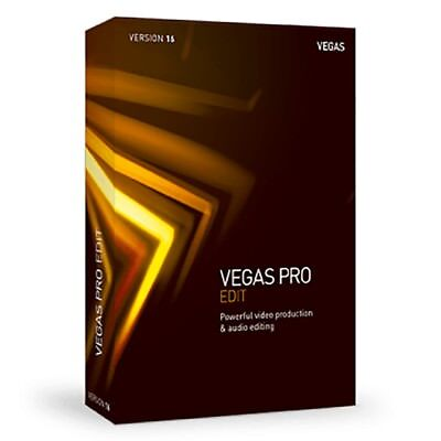 MAGIX Vegas Pro 16 Edit Video Production Audio Editing Disc Authoring Software