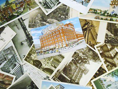 Vintage lot of postcards ~ 10 Random Postcards from the 1950to '90s - Historic