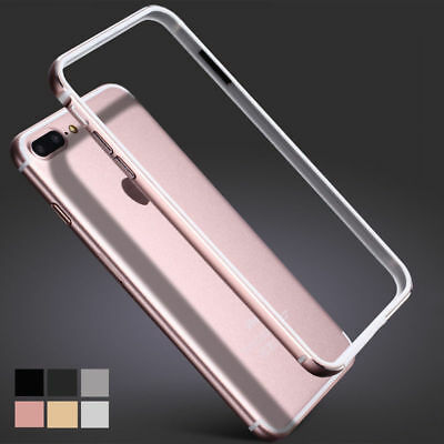 Aluminum Metal Frame Soft TPU Side shockproof Case For iPhone6 6s 7 Plus 8 Plus