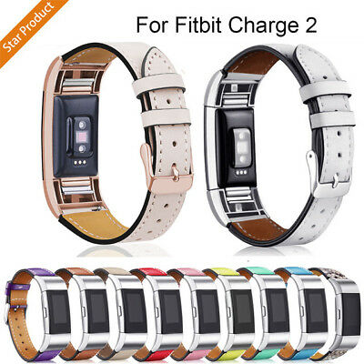 Genuine Leather Replacement Band Bracelet Strap WatchBand For Fitbit Charge 2 UK