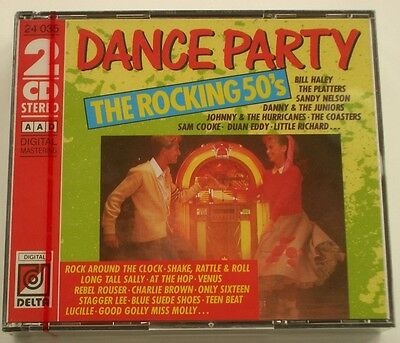 NEW sealed Dance Party The Rocking 50's 2-CD Set 32 Hits