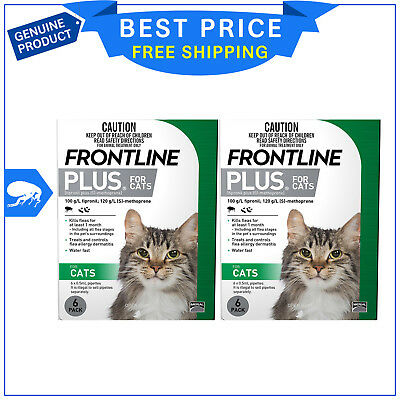 FRONTLINE PLUS For Cats Flea treatment 12 Pipettes GREEN Pack