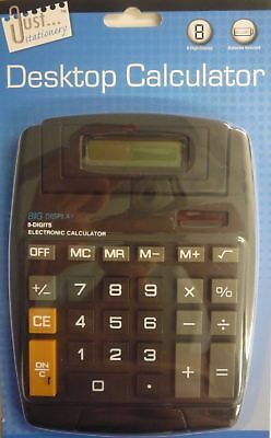 Just Stationery Solar Power Large Display Desk Top Calculator Big Pop Up Display