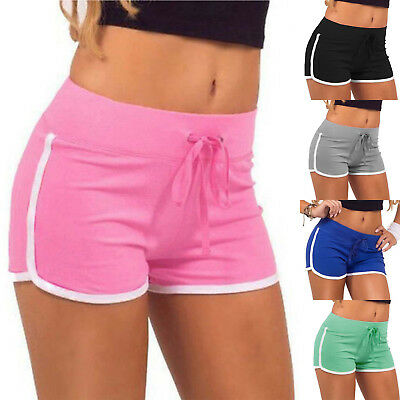 Womens Summer Casual Yoga Running Shorts Ladies Sport Beach Hot Pants Size 8-16