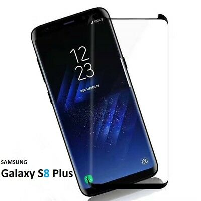 For Samsung Galaxy S8 PLUS -100% Full Curved Tempered Glass LCD Screen Protector