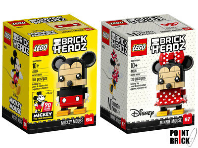 LEGO BRICKHEADZ DISNEY TOPOLINO Mickey Mouse - Minnie Mouse