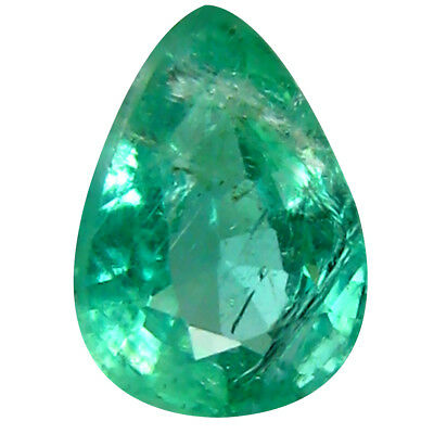 0.52 ct AAA Grade Pear (6 x 4 mm) Green Colombian Emerald Natural Loose Gemstone