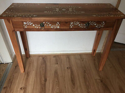 mother of pearl inlaid console table